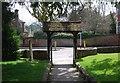 SU8649 : Lych gate, Parish Church of St Michael the Archangel by N Chadwick