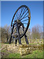 NZ2870 : Old colliery wheel by Andrew Tryon