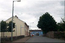 N0719 : Approaching the roundabout in the centre of Cloghan by Eric Jones