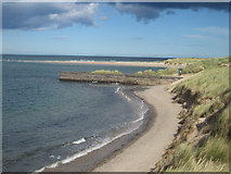 NU1535 : The beach at Budle Bay by Graham Robson