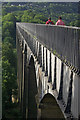 SJ2742 : Walking across Pontcysyllte Aqueduct by Stephen McKay
