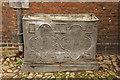 TQ1773 : Lead cistern by Richard Croft