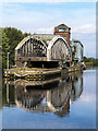 SJ7697 : Barton Road Swing Bridge by William Starkey