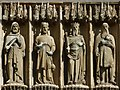 TA0339 : Four exterior statues, Beverley Minster by Robin Drayton