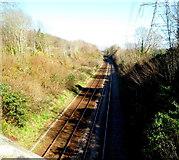 SH5371 : Towards Britannia  Bridge from Llanfairpwll by Jaggery