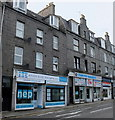 NJ9307 : Shops + flats, George Street, Aberdeen by Bill Harrison