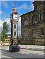 NZ2563 : Grade II listed clock tower by Pauline E