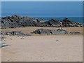 C5449 : Rocks on Culdaff beach by Oliver Dixon