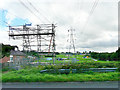 NY4355 : Power line upgrade in progress by Rose and Trev Clough