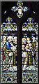 TQ3395 : St Stephen, Bush Hill Park - Stained glass window by John Salmon