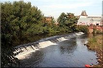 SK3688 : Walk Mill Weir by Graham Hogg