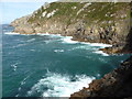 SW4136 : Coastline north east of Long Carn Ridge by David Medcalf