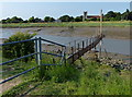 TF3342 : Gantry along The Haven (River Witham) by Mat Fascione