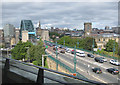 NZ2563 : Traffic on The Tyne Bridge by Pauline E