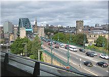 NZ2563 : Traffic on The Tyne Bridge by Pauline E