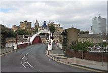 NZ2563 : Bridge Street, the Swing Bridge by Pauline E