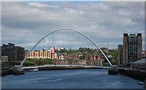 NZ2563 : Gateshead Millennium Bridge, linking Gateshead and Newcastle by Pauline E