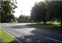 NZ1647 : Road junction in Lanchester by Stanley Howe
