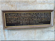 ST6316 : Sherborne Abbey: memorial (xii) by Basher Eyre