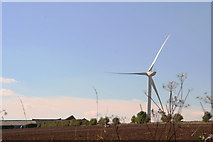 SE9238 : Sober Hill Farm and Sober Hill Windfarm by Chris