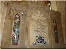 ST6316 : Sherborne Abbey: memorial (xlvii) by Basher Eyre