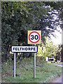 TG1718 : Felthorpe name sign by Adrian Cable