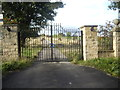 NZ1939 : Locked wrought-iron gates off Sandy Lonnen by Stanley Howe