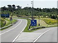 SP1498 : M6 Toll Road, Exit at Junction T3 by David Dixon