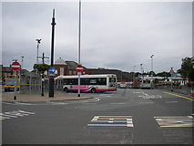 SJ8545 : Newcastle under Lyme bus station by Richard Vince