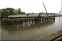 TF3243 : Railway Swing Bridge, Boston by Dave Hitchborne