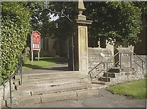 NZ1647 : Access gate to All Saints, Lanchester by Stanley Howe