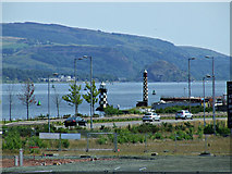 NS3174 : Port Glasgow lighthouses by Thomas Nugent