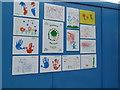 SO8754 : Worcestershire Royal Hospital - children's art by Chris Allen