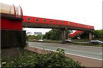 SJ7760 : Footbridge over the M6 by Steve Daniels