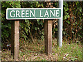 TG1817 : Green Lane sign by Adrian Cable