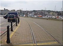 SY6778 : Weymouth Harbour Tramway by Mike Faherty