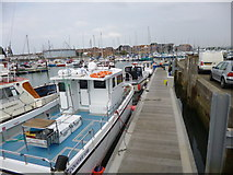 SY6778 : Weymouth, fishing boats by Mike Faherty