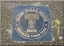 NS2776 : Glebe Sugar House, Greenock Town Trail Plaque, Greenock by Terry Robinson