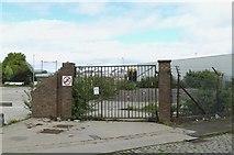 NS2776 : Gates to nowhere, Ker Street, Greenock - 1 by Terry Robinson