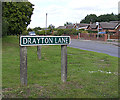 TG1915 : Drayton Lane sign by Adrian Cable