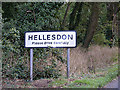 TG2013 : Hellesdon Village Name sign by Adrian Cable