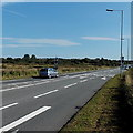 SS5997 : A484 east of the Victoria Road roundabout near Kingsbridge by Jaggery