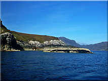 NB3102 : Loch Bhrolluim coastline by Toby Speight