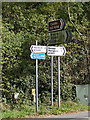 TG2603 : Roadsigns on the B1332 Norwich Road by Adrian Cable