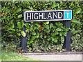 TG2503 : Highland sign by Adrian Cable