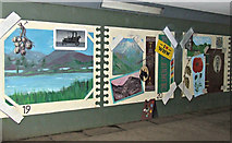 NS5574 : Milngavie underpass murals by Thomas Nugent