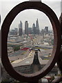 TQ3281 : City of London: framed view of the city rooftops by Chris Downer