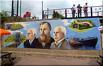 SJ6475 : Mural at Anderton Boat Lift by Des Blenkinsopp