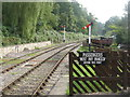 SO6107 : Looking south from Parkend Station by M J Richardson