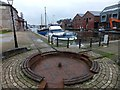 SX9291 : Site of canalside turntable, Exeter Canal by David Smith